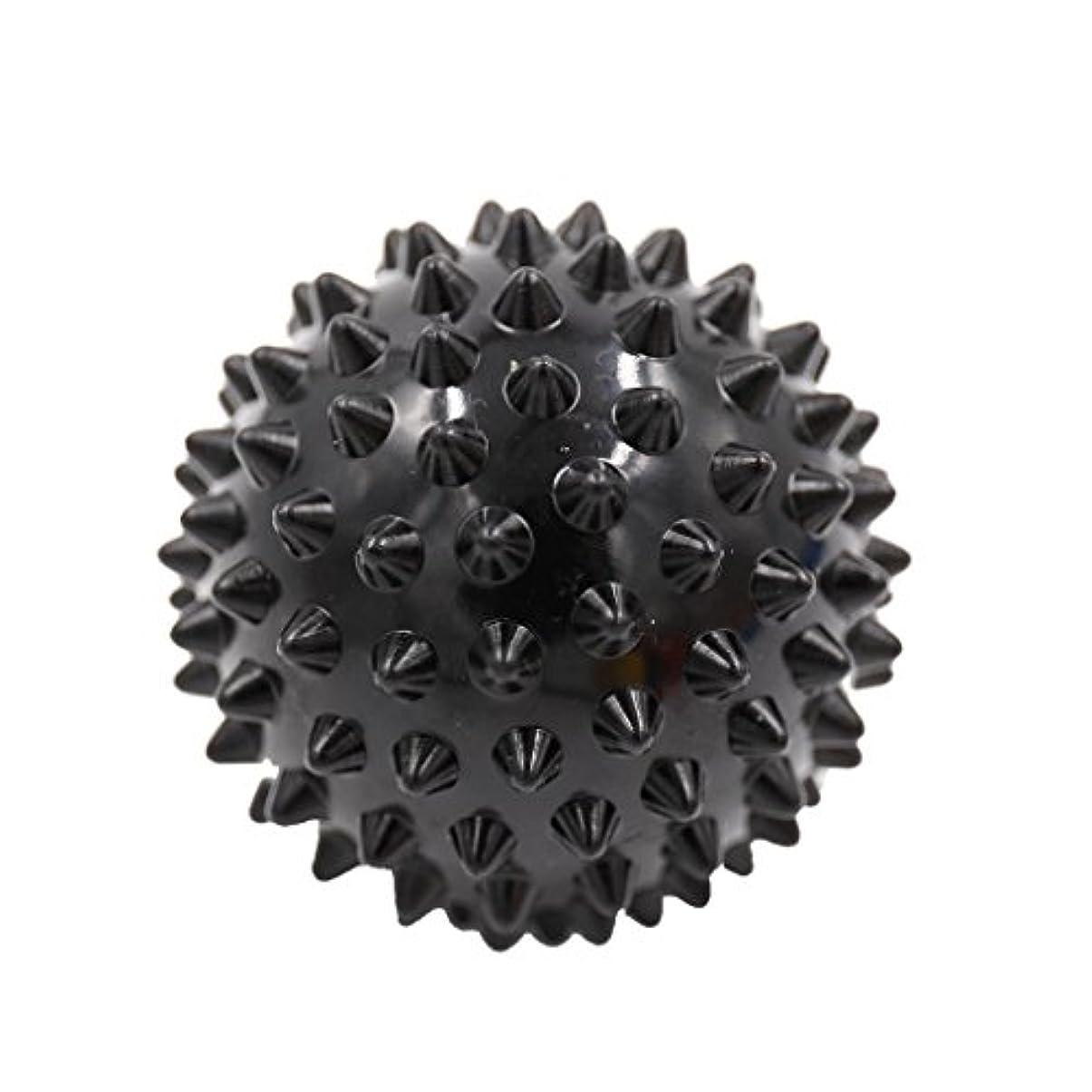 理想的石の平らなマッサージボール マッサージ器 ボディ レリーフ スパイク マッサージ 刺激ボール 3色選べ - ブラック, 説明したように