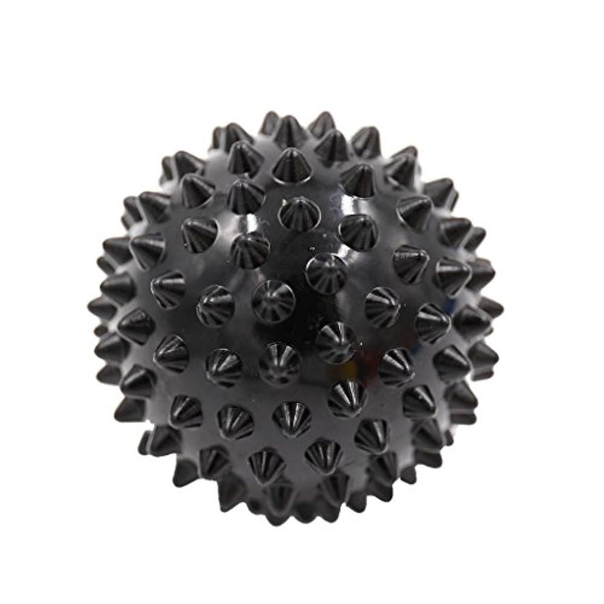 流辞書ずんぐりしたマッサージボール マッサージ器 ボディ レリーフ スパイク マッサージ 刺激ボール 3色選べ - ブラック, 説明したように