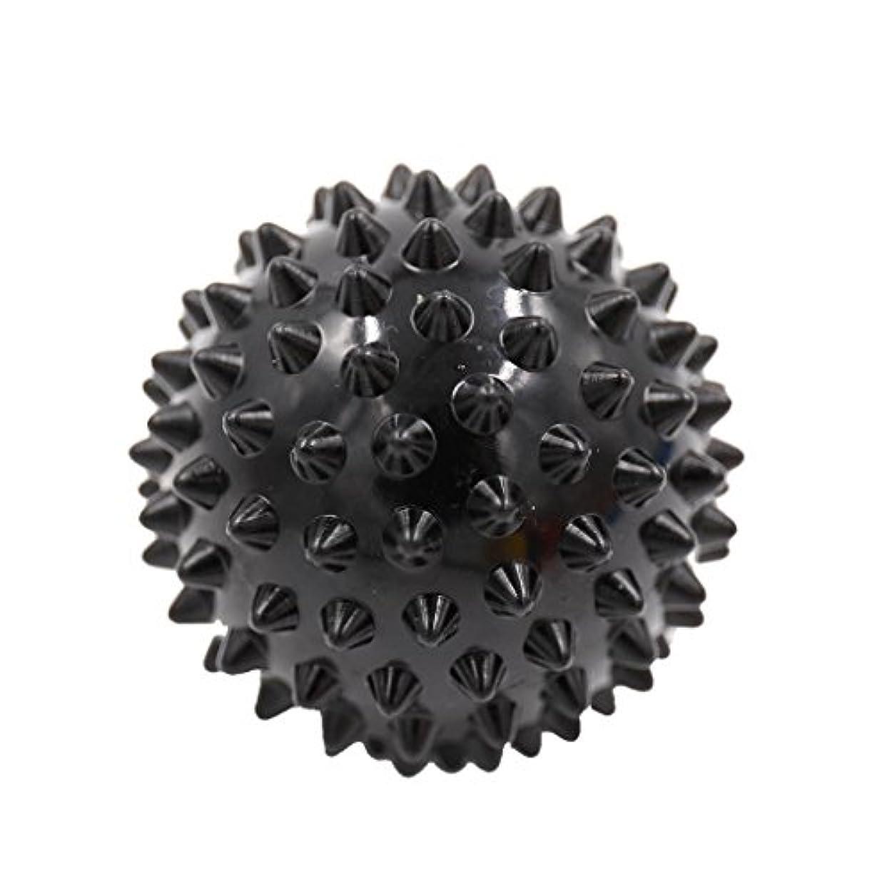 ペナルティ評価するバケットKesoto マッサージボール マッサージ器 ボディ パームレリーフ スパイク マッサージ 刺激ボール 3色選べ - ブラック