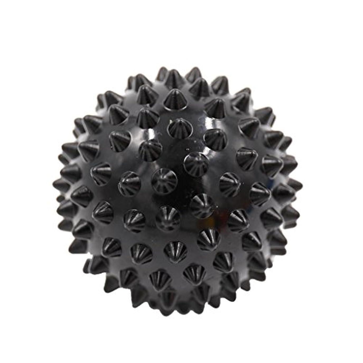 コンデンサー肌オーバーフローマッサージボール マッサージ器 マッサージャー リラックス スパイク マッサージボール 3色選べ - ブラック, 説明したように