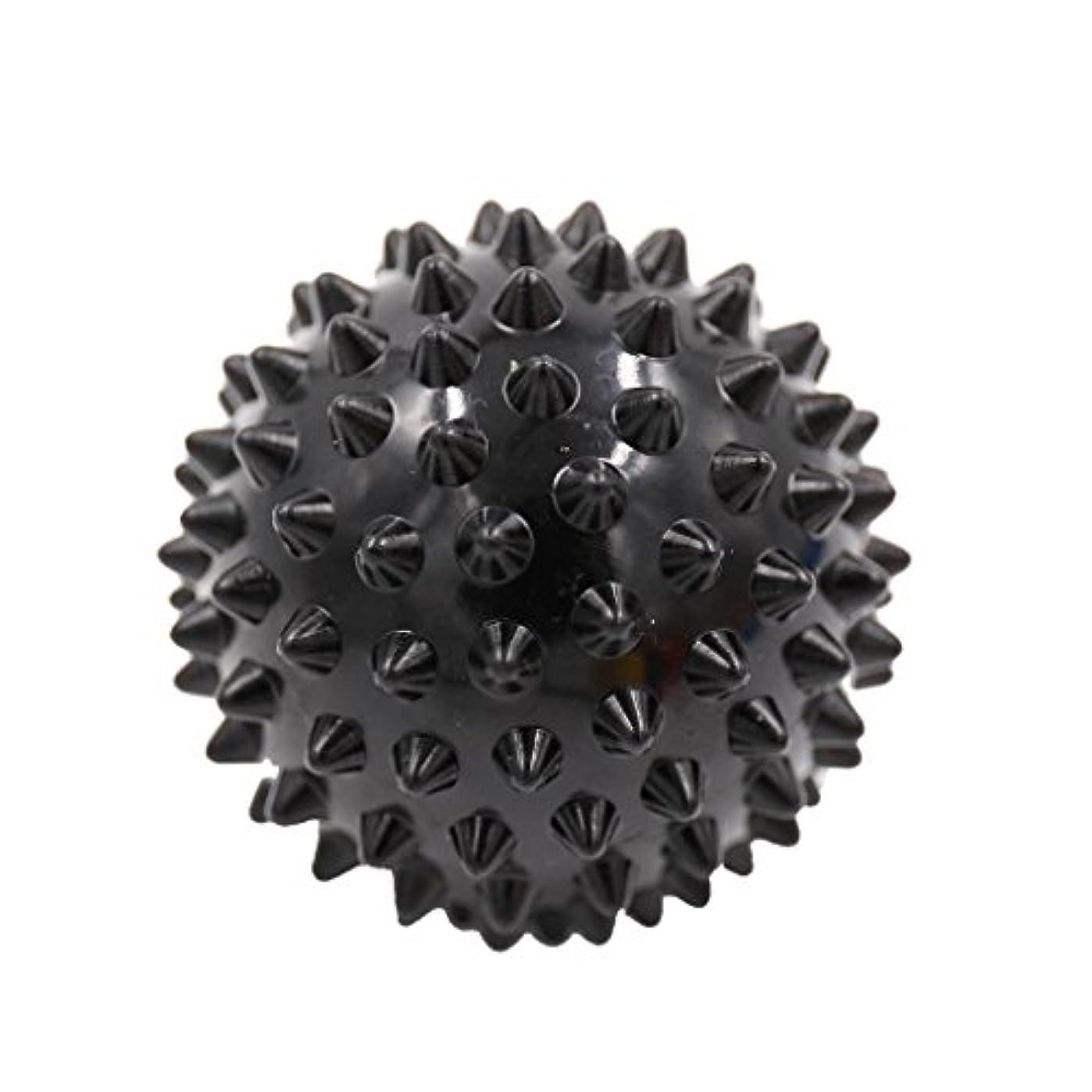 債務所属連想マッサージボール マッサージ器 ボディ レリーフ スパイク マッサージ 刺激ボール 3色選べ - ブラック, 説明したように