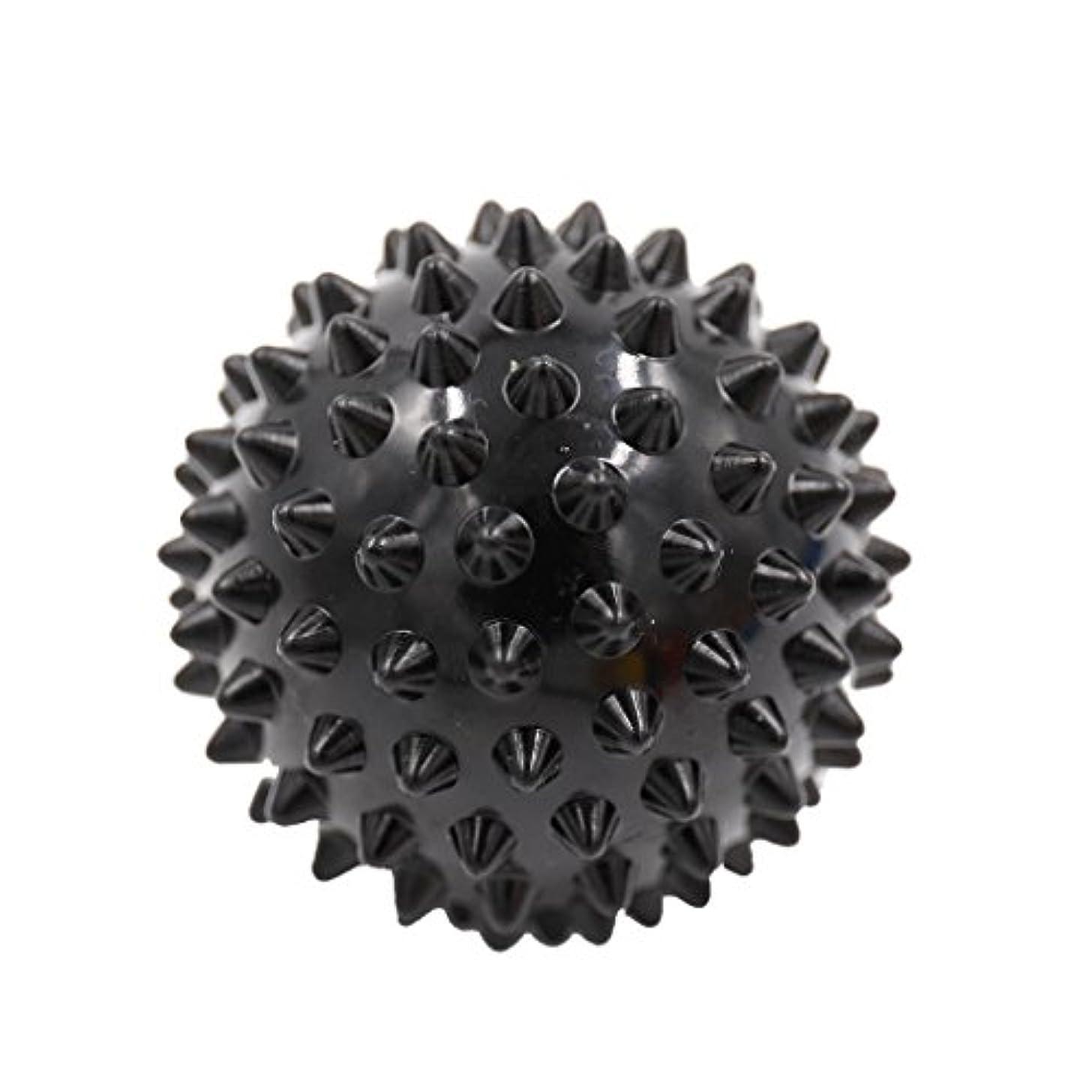 系譜伝統タイプマッサージボール マッサージ器 ボディ レリーフ スパイク マッサージ 刺激ボール 3色選べ - ブラック, 説明したように