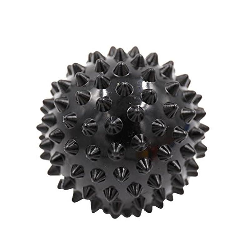 トン膨らみ顕現マッサージボール マッサージ器 ボディ レリーフ スパイク マッサージ 刺激ボール 3色選べ - ブラック, 説明したように