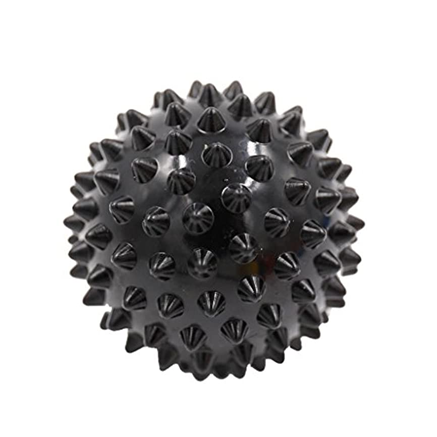 確認するピラミッドデンマークマッサージボール マッサージ器 ボディ パームレリーフ スパイク マッサージ 刺激ボール 3色選べ - ブラック, 説明したように