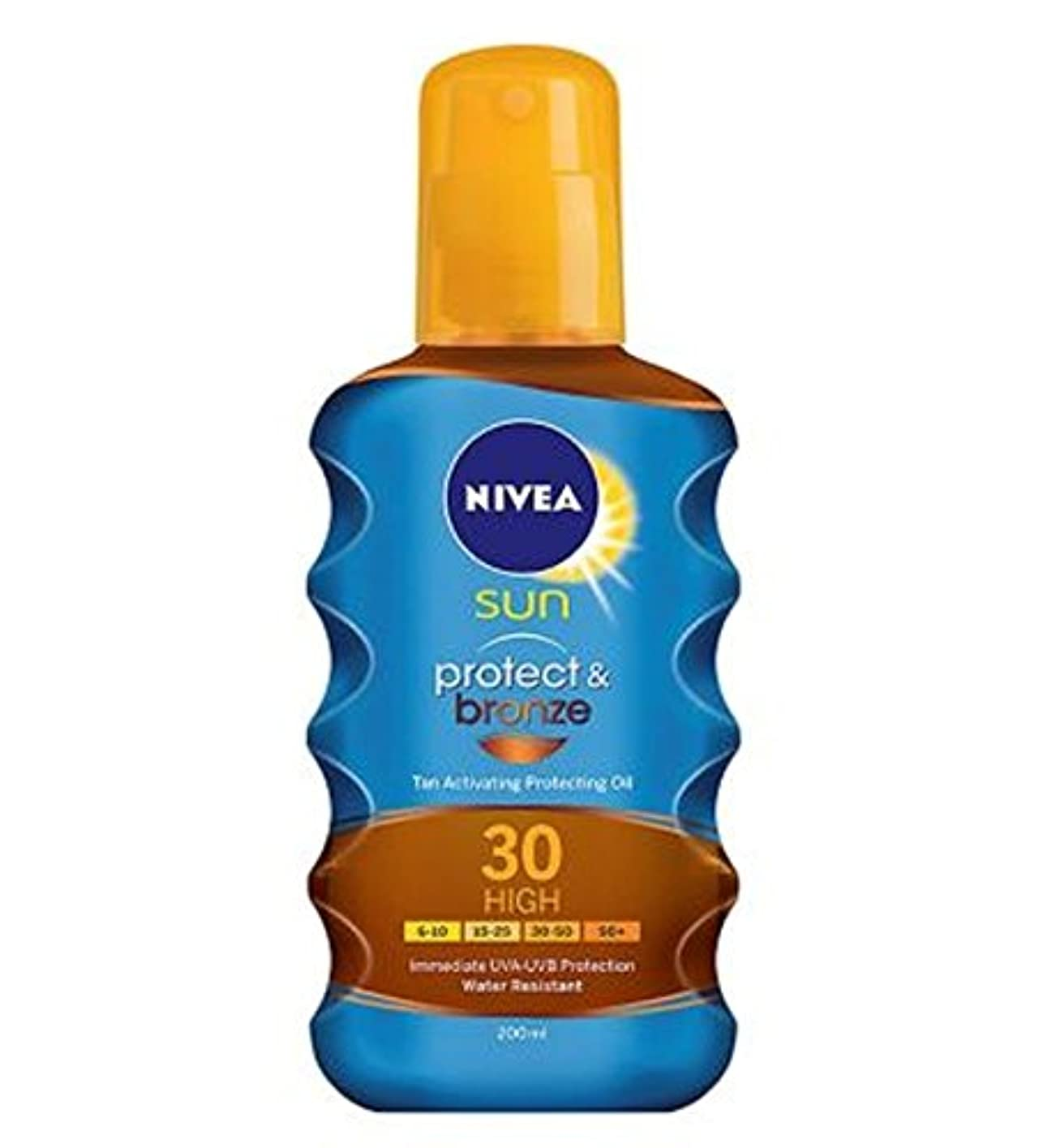 Nivea Sun protect and bronze tan activating protecting oil spf 30 200ml - ニベアの日は、保護し、オイルSpf 30 200ミリリットルを保護ブロンズ...