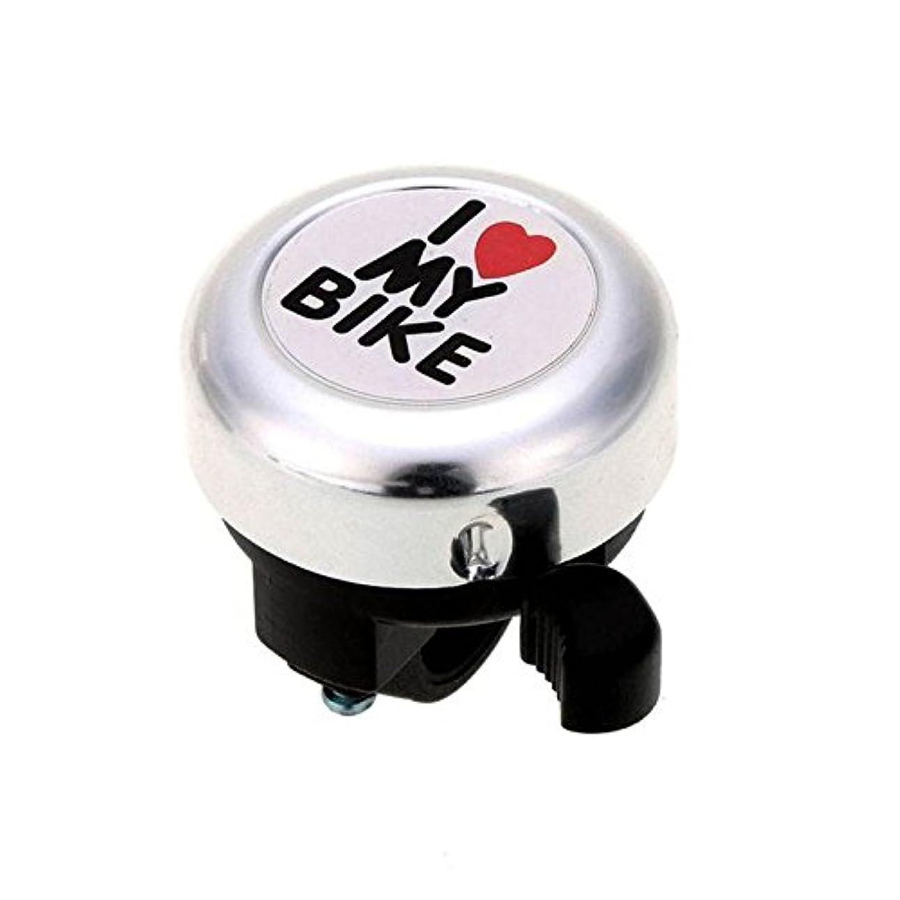 式チャット石膏SODIAL 自転車ベル -「私は私の自転車が好きです。」自転車ホーン 大きく響くアルミ自転車のリングミニ自転車アクセサリー 大人男性女性子供女の子男の子の自転車用(シルバー)