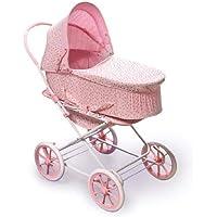 Badger Basket Pink Rosebud 3-in-1 Doll Pram, Carrier, and Stroller (fits American Girl dolls) [並行輸入品]