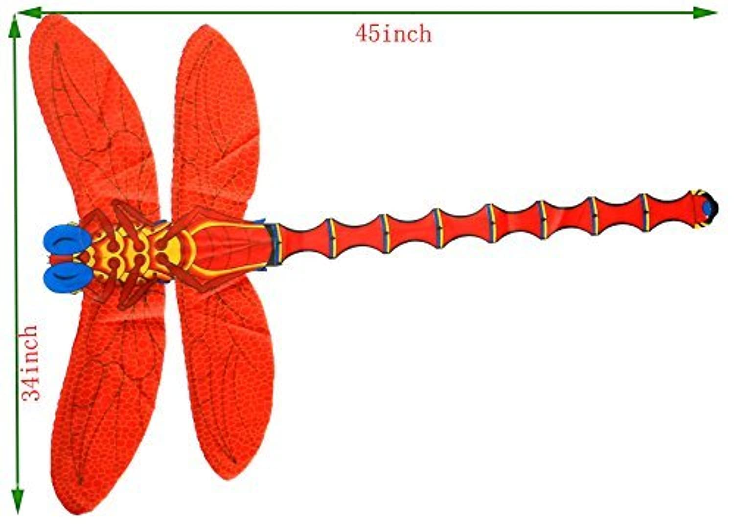 Foldaway RED Dragonfly Kite,include Kite Winder and Line,outdoor Toy by F&W [並行輸入品]