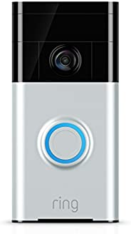 Ring Wi-Fi Enabled Video Doorbell in Satin Nickel (Previous Gen) - Works with Alexa