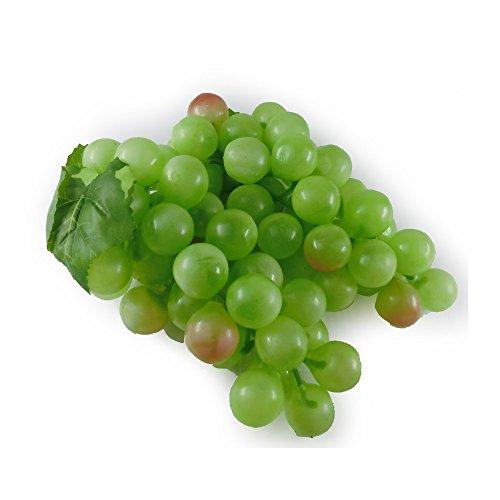 GuCra 本物そっくりな果物模型 ぶどう 葡萄 ブドウ 2房セット 美術用品 食品サンプル 1房の長さ約16cm レプリカ (マスカット)