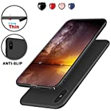 Protective iPhone X Case Slim Design with Shockproof and Antiskid, Meidom Matte Cover Case for iPhone X Only-Black