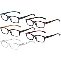 Eyekepper 5 Pairs Reading Glasses Comfort Readers Women Men (One for each color, 1.75)