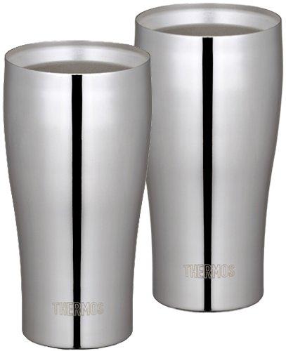 サーモス 真空断熱タンブラー2個セット 400ml ステンレスミラー JCY-400GP1 SM