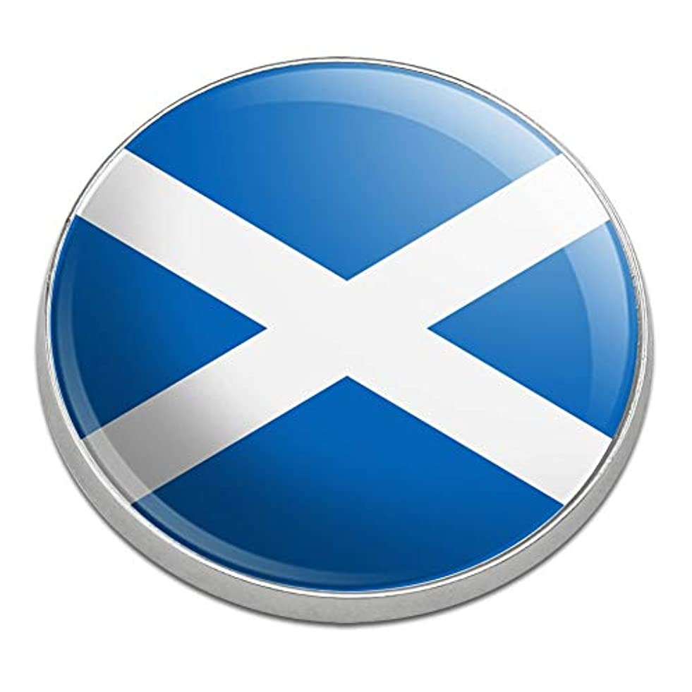 更新する粉砕するファッションスコットランドスコットランド国旗ゴルフプレミアムメタルゴルフボールマーカー