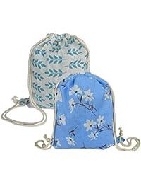 Lontenrea 2個 ナップサック おしゃれ 巾着袋バックパック アウトドア スポーツジム ストレージ用バッグ 旅行 運動 部活用バックパック 収納バッグ