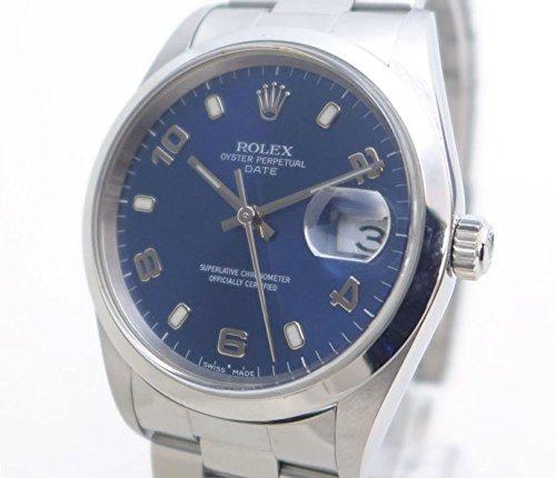 ロレックス オイスターパーペチュアルデイト 15200 SS メンズ腕時計 飛びアラビア [中古]