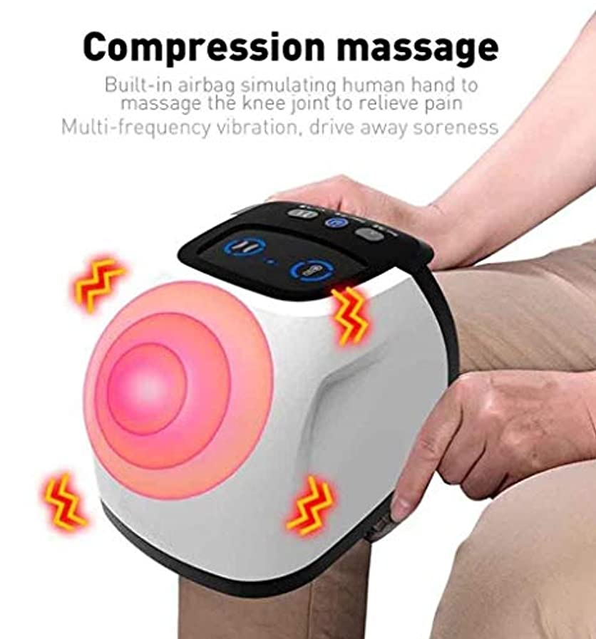 コショウグラフ傭兵足と膝の痛みを和らげるための電動マッサージケアツール、エアバッグの圧縮/振動/暖かい/赤外線マグネット理学療法、血液循環の促進