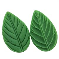 Allforhome ( TM ) Long Leaf Fondant and Gum Paste MoldシリコンClay MoldsジュエリーMouldsケーキDecoration Supplies