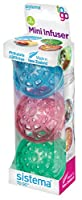 Sistema To Go Collection Fruit Infuser (Set of 3), Mini, Multicolor by Sistema