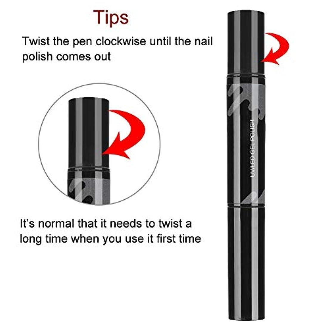 ドラム内陸大臣DIY UV ジェルネイルポリッシュマニキュア用プロフェッショナルネイルポリッシュペン(8044)