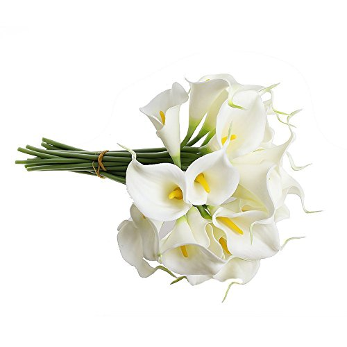 造花 ホワイト カラーリリー オランダカイウ 10本セット 人工植物 花材 飾り 雑貨 室内インテリア アーティフィシャルフラワー