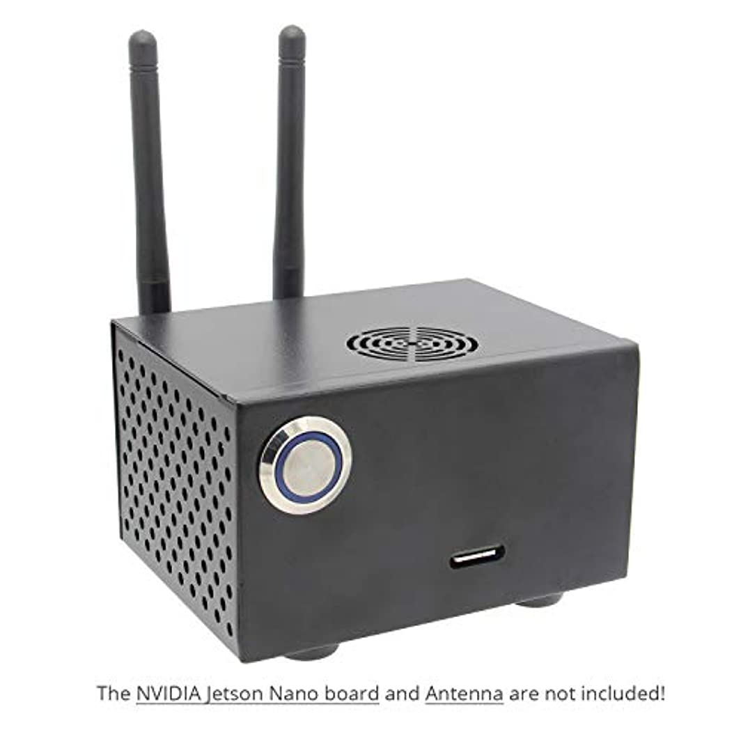 余韻注入するグラマーGeekworm NVIDIA Jetson ナノメタルケース/エンクロージャー パワー&リセットコントロールスイッチ付き NVIDIA Jetson Nano Developer Kit用