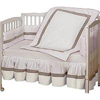 Baby Doll Bedding Classic II Crib Bedding Set, Ecru by BabyDoll Bedding