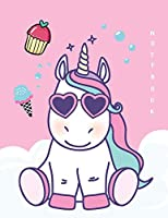 Notebook: Unicorn on Pink Cover and Dot Graph Line Sketch Pages, Extra Large (8.5 X 11) Inches, 110 Pages, White Paper, Sketch, Notebook Journal (Unicorn on Pink Notebook)