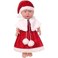 D DOLITY 工芸品 リボーンドール人形 抱き人形 クリスマス衣装付き 新生児人形 ガールドール