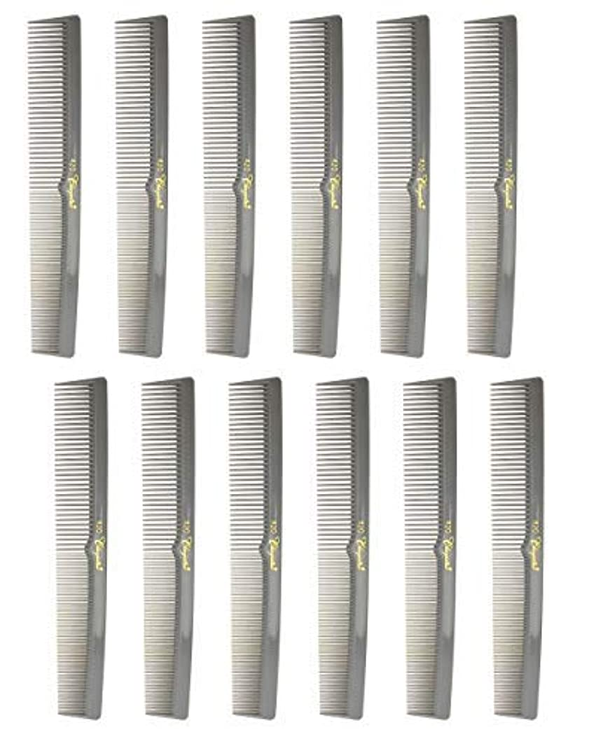 花婿見つける視線7 Inch Hair Cutting Combs. Barber's & Hairstylist Combs. Gray. 1 DZ. [並行輸入品]