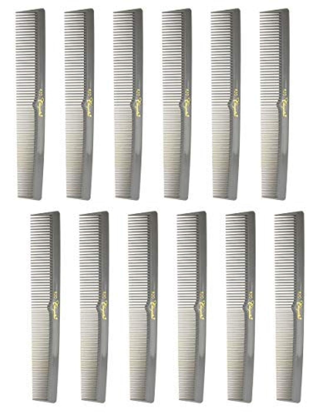 暴露するビュッフェ州7 Inch Hair Cutting Combs. Barber's & Hairstylist Combs. Gray. 1 DZ. [並行輸入品]