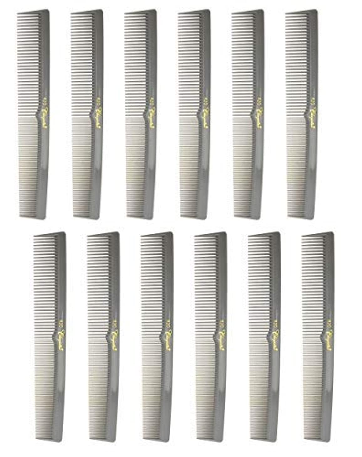 マグテラス古い7 Inch Hair Cutting Combs. Barber's & Hairstylist Combs. Gray. 1 DZ. [並行輸入品]