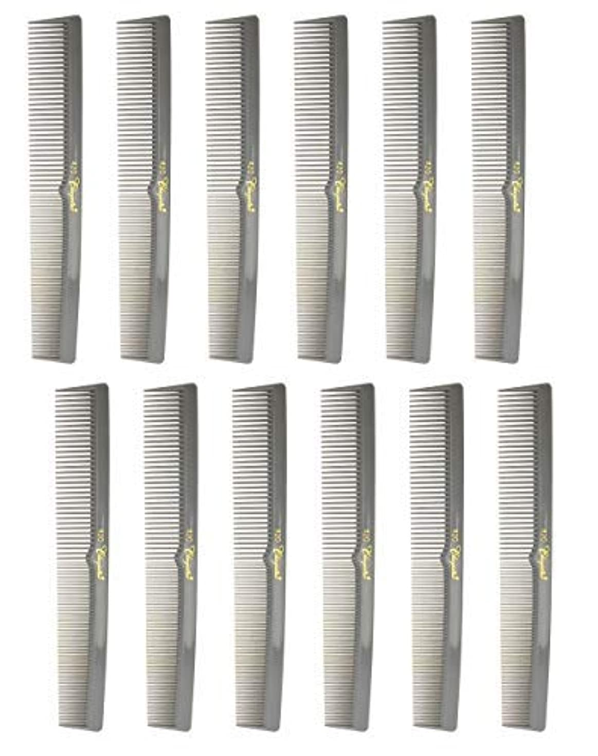 年次永久会計士7 Inch Hair Cutting Combs. Barber's & Hairstylist Combs. Gray. 1 DZ. [並行輸入品]