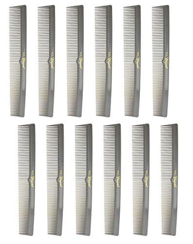 信頼できるメーカールーム7 Inch Hair Cutting Combs. Barber's & Hairstylist Combs. Gray. 1 DZ. [並行輸入品]