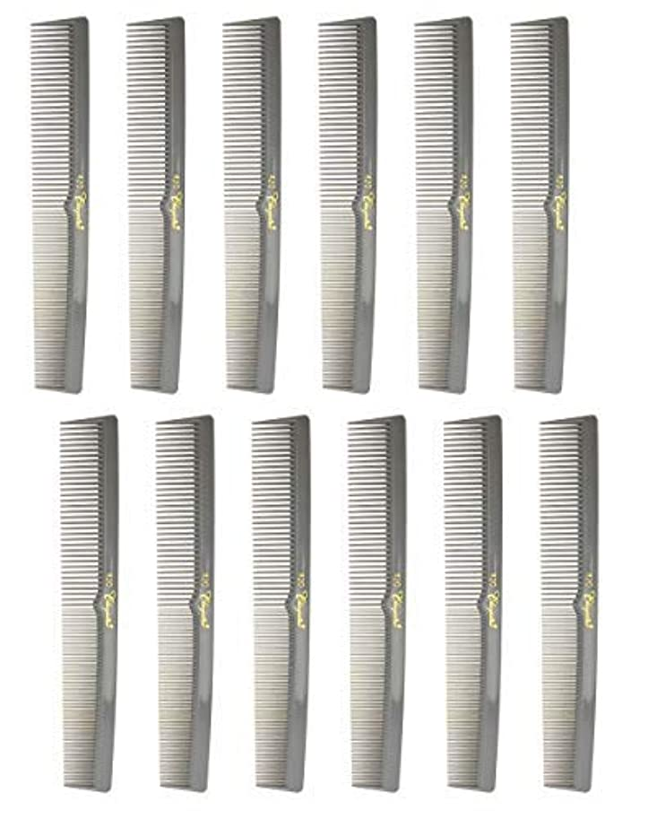 7 Inch Hair Cutting Combs. Barber's & Hairstylist Combs. Gray. 1 DZ. [並行輸入品]
