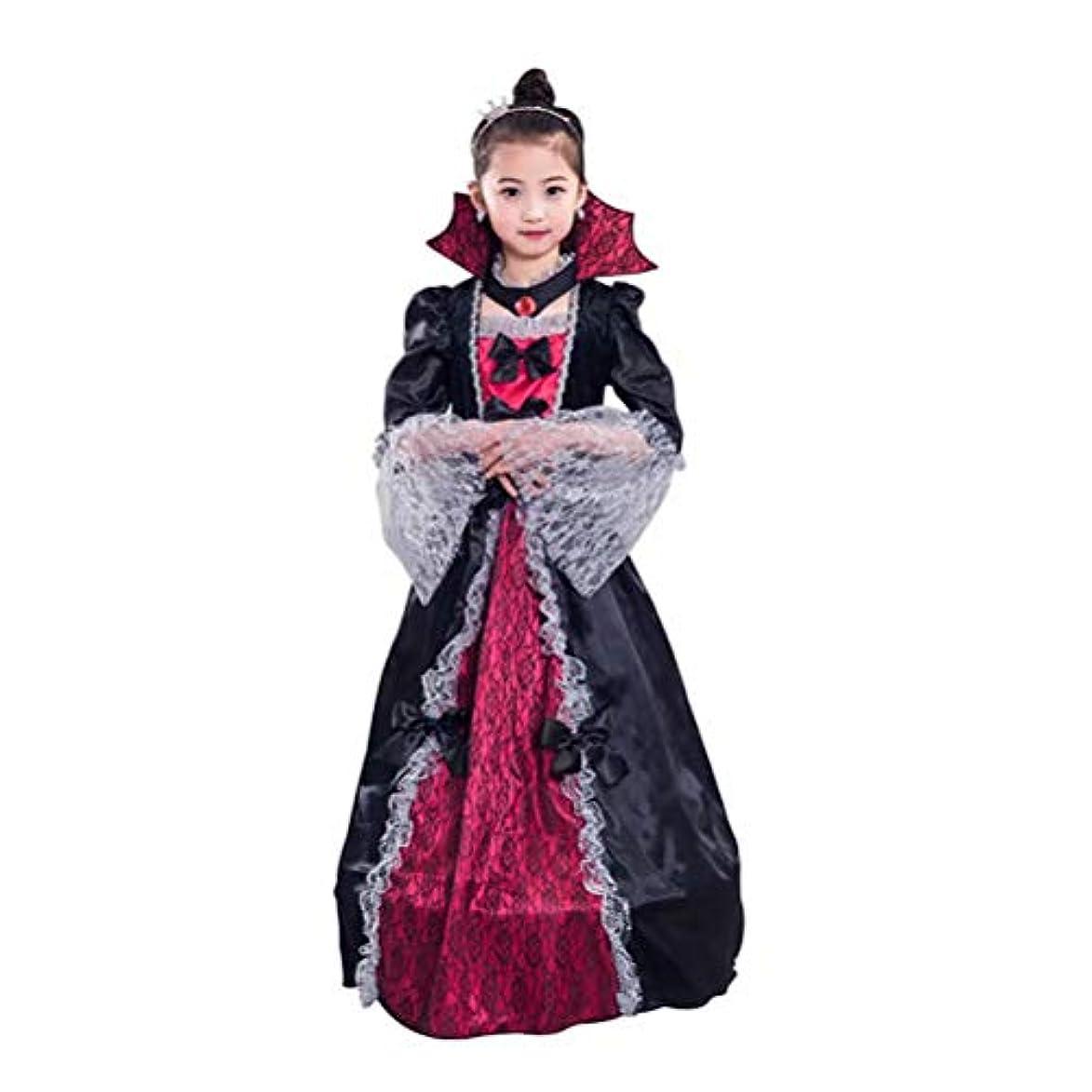 文字通りパール優しいLEDING HAPPY ハロウィン衣装 子供 女の子 ワンピース ドレス お姫様 魔女 コスプレ 仮装 キッズコスチューム 吸血鬼 巫女 女王 ハロウィーンコスチューム