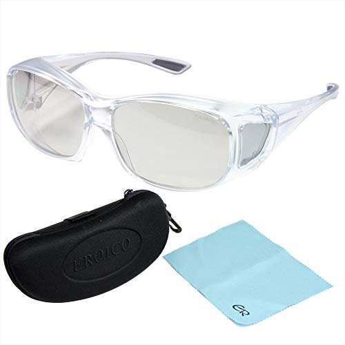 偏光 オーバーグラス ポラライズド OS-1 クリア エロイコ [オーバーサングラス] 偏光サングラス オーバー 偏光グラス メガネの上からサングラス ゴルフ UV カット