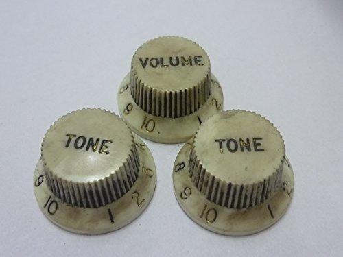 (日本製)高品質 ビンテージレリック レリックホワイト STノブ セット インチサイズ