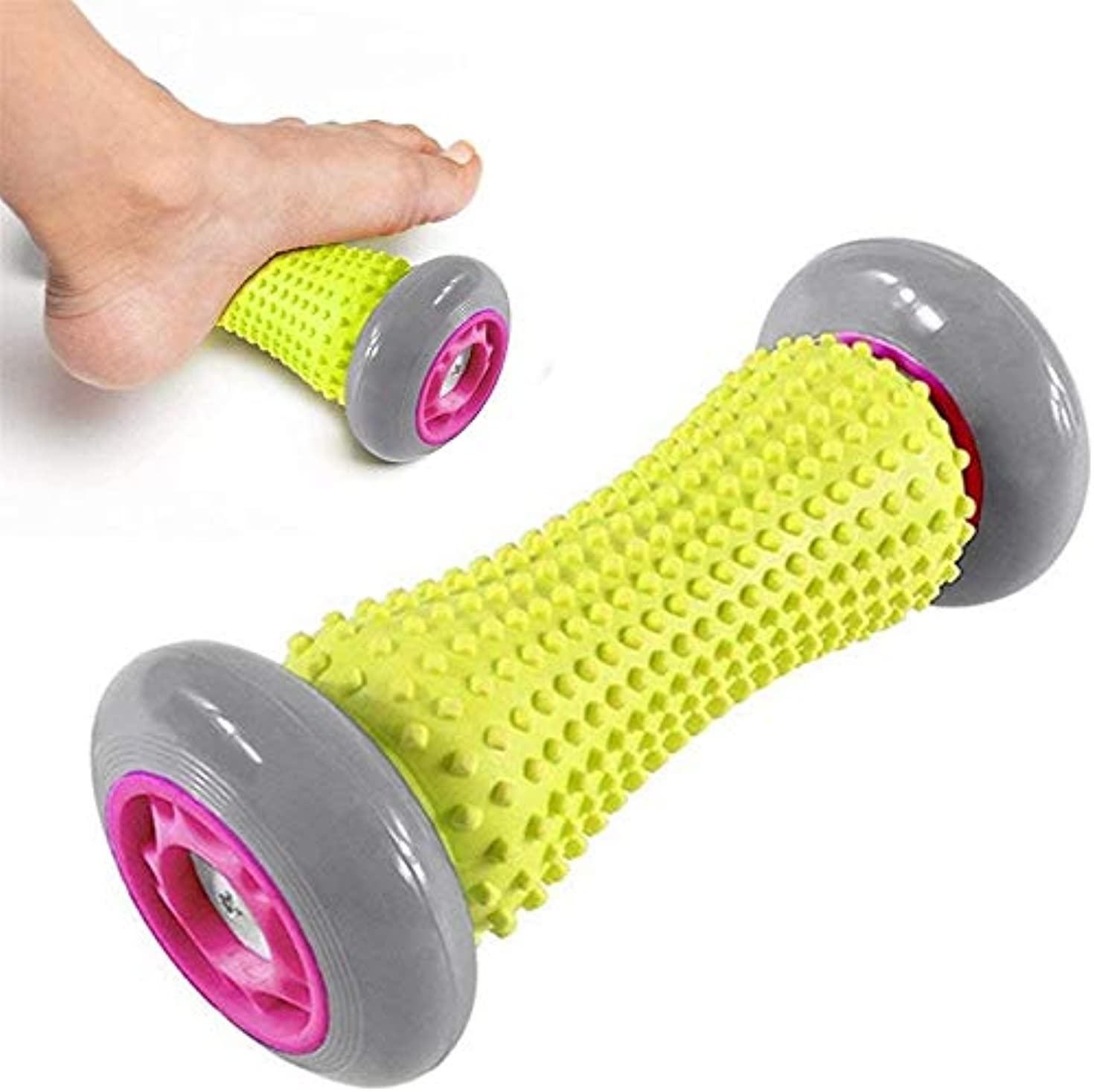 通常サスティーンコースフットマッサージローラー、リラクゼーションとストレス軽減のために足のアーチの痛みと足底筋膜炎の筋肉ローラースティック、指圧リフレクソロジーツールを和らげます