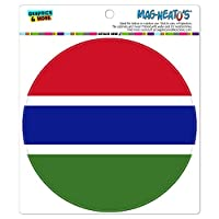 ガンビア国立国旗 - サークル MAG-格好いい'S(TM)カー/冷蔵庫マグネット