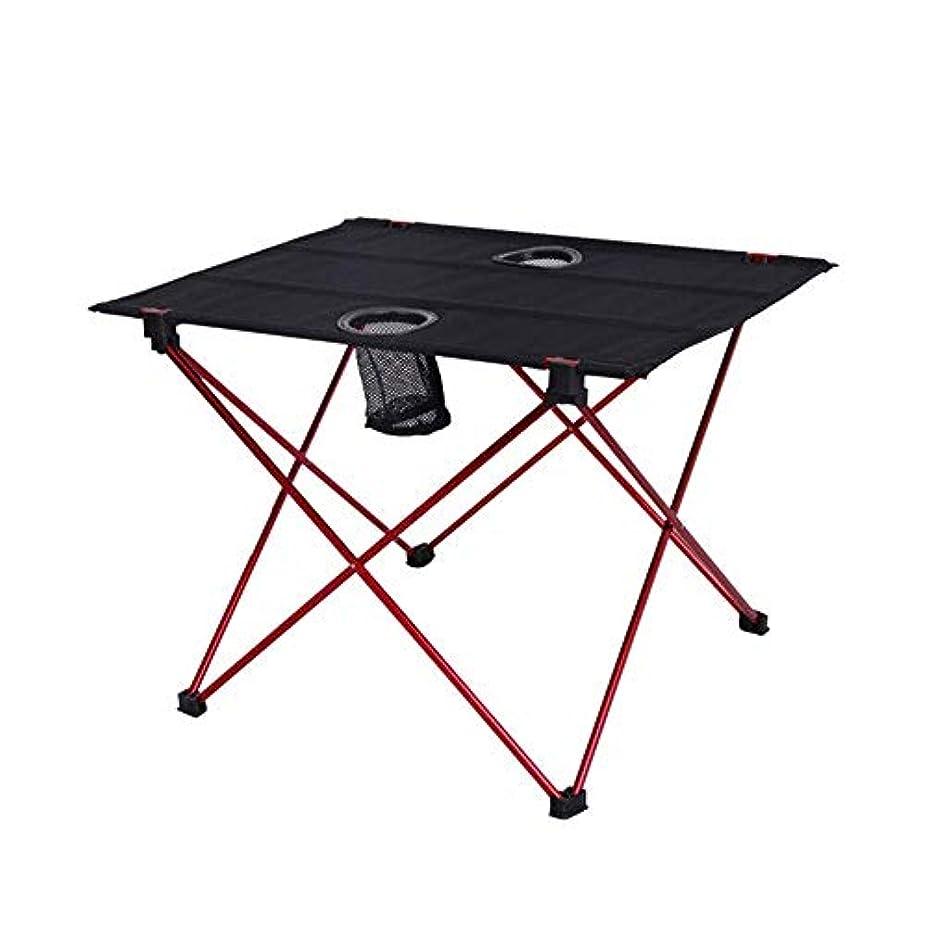 画家代数事件、出来事アウトドア キャンプ 折りたたみ式 ピクニックテーブル カップホルダー付き 軽量 ポータブル オックスフォード生地 アルミ合金 折りたたみテーブル 持ち運び簡単 ロールアップバッグ付き キャンプ ビーチ アウトドア 22×16インチ