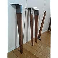 アイアンレッグテーパー スプルース ダークブラウン DIY素材 鉄脚 テーブル脚 4本セット 鉄足