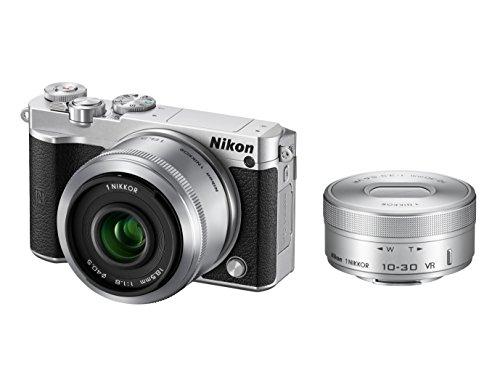 Nikon ミラーレス一眼 Nikon1 J5 ダブルレンズキット シルバー...