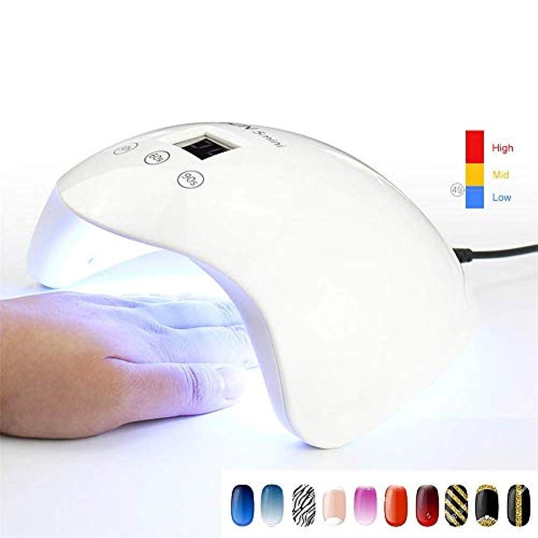 影響を受けやすいです目の前の実行可能24ワットミニ紫外線ledランプネイルドライヤー機マニキュア硬化すべてゲルポリッシュランプ紫外線療法ランプlcdディスプレイ