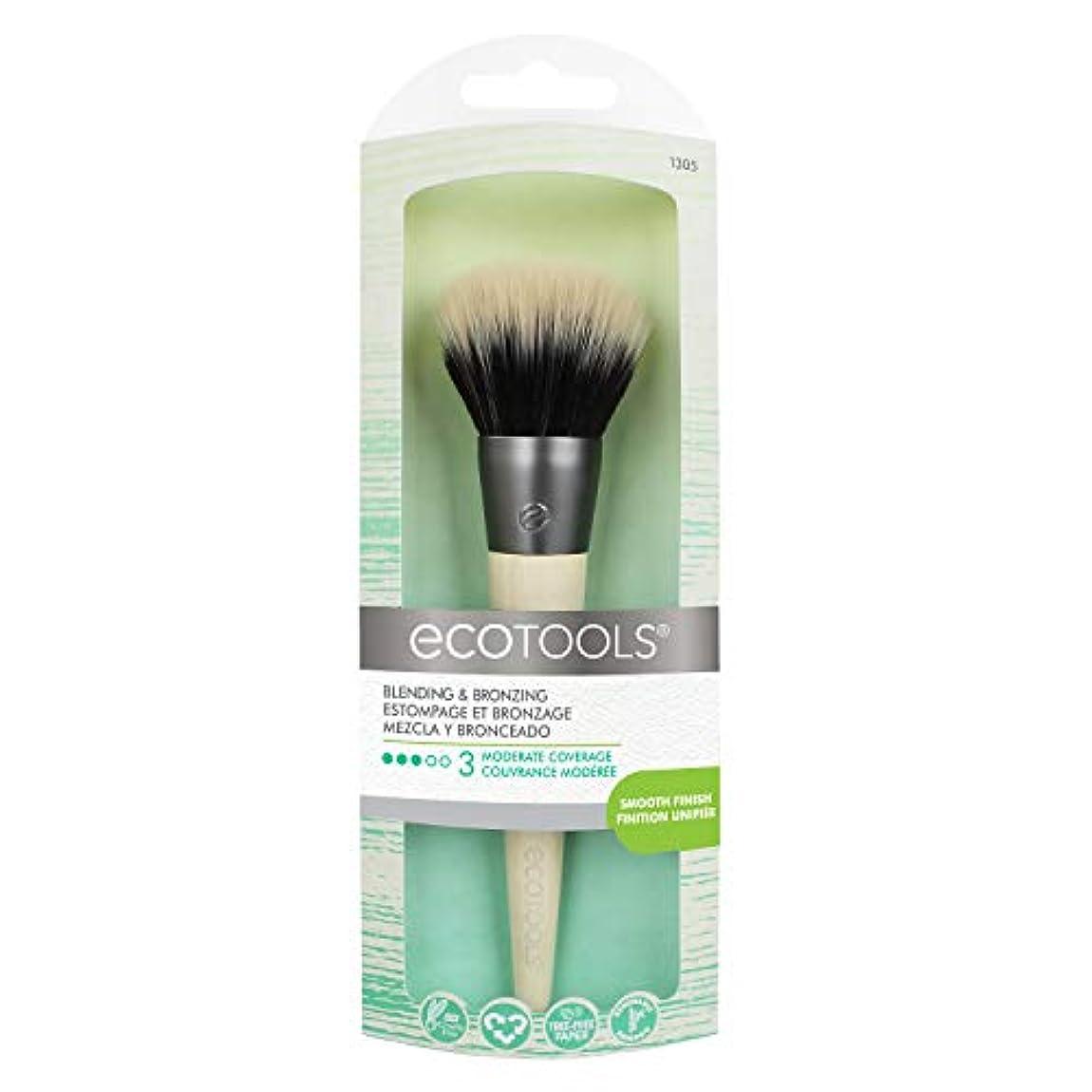 二層静的包括的EcoTools Blending and Bronzing Brush (並行輸入品)