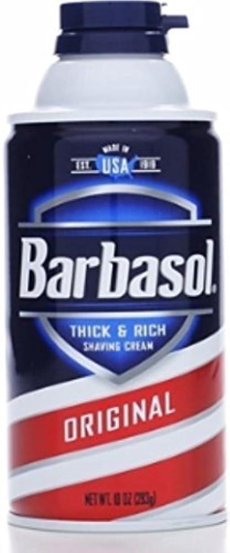 含意申し立てられた登録Barbasol Beard Buster Shaving Cream Original 10 oz (Pack of 6) [並行輸入品]