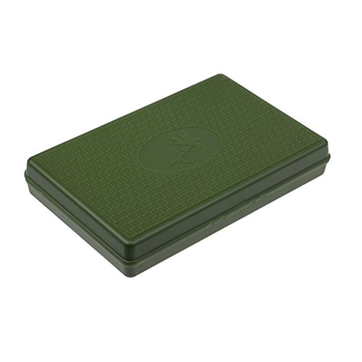 徹底的に埋め込む先行するLovoski スリム   釣りルアーボックス  フライフィッシングボックス  マイクロスロット   フォーム インサート  ドライフライボックス  5色選べる - グリーン