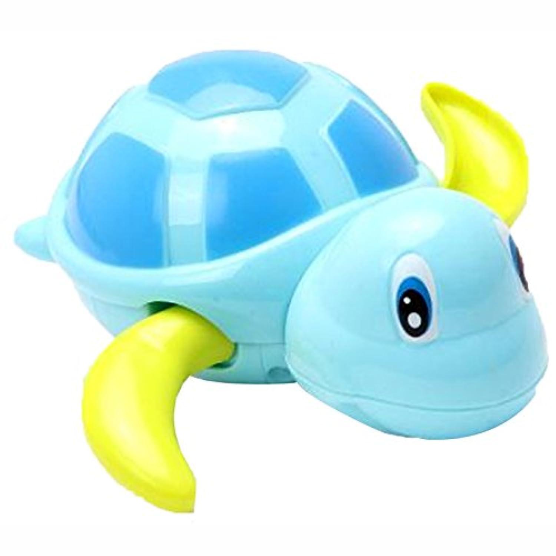 Linshop 赤ちゃんのお風呂の水Linshop チェーンの浜辺の上の春クール泳ぐ亀の赤ちゃんのおもちゃに戻って(ランダムカラー)