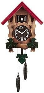 リズム時計 RHYTHM カッコー時計 カッコーメルビルR 本格的ふいご式 濃茶ボカシ木地仕上 4MJ775RH06