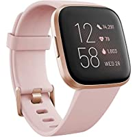 Fitbit Versa 2 Alexa搭載 スマートウォッチ Petal/Copper Rose L/S サイズ [日本正規品] FB507RGPK-FRCJK